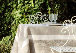 Nappe de table jacquard lin